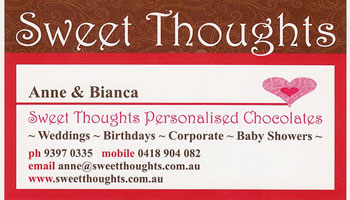 Sweet Thoughts Personalised Chocolates